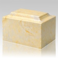 Gold Marble Keepsake Cremation Urn