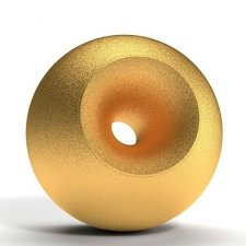 Gold Sand Orb Cremation Urns