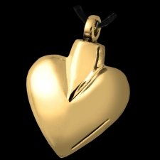 Gold Spade Cremation Pendant