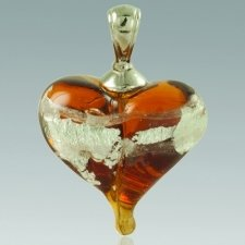 Golden & Silver Love Cremation Ash Pendant