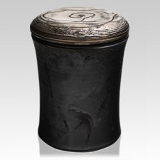 Golden Black Ceramic Urn