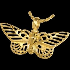 Golden Butterfly Cremation Pendant