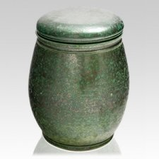 Golden Green Ceramic Urn