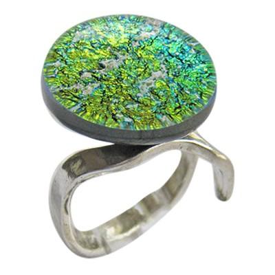 Golden Green Memorial Ashes Ring