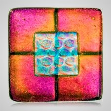 Golden Pink Cremation Ashes Tile