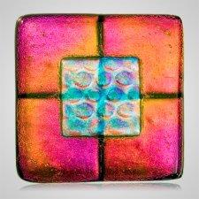 Golden Pink Pet Cremation Ashes Tile