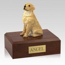 Golden Retriever Blond Sitting Large Dog Urn