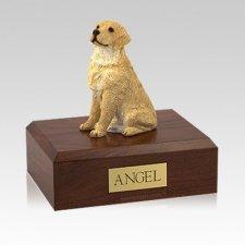 Golden Retriever Blond Sitting Medium Dog Urn