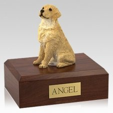 Golden Retriever Blonde Sitting Dog Urns