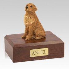 Golden Retriever Golden Sitting Large Dog Urn