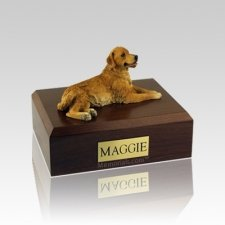 Golden Retriever Laying Medium Dog Urn