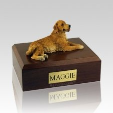 Golden Retriever Laying Dog Urns