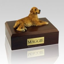 Golden Retriever Lounging Dog Urns