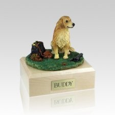 Golden Retriever With Stump Large Dog Urn