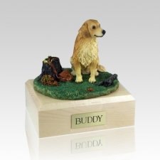 Golden Retriever With Stump X Large Dog Urn
