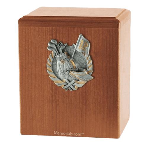 Golf Light Cherry Cremation Urn