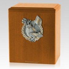 Golf Fan Oak Cremation Urn