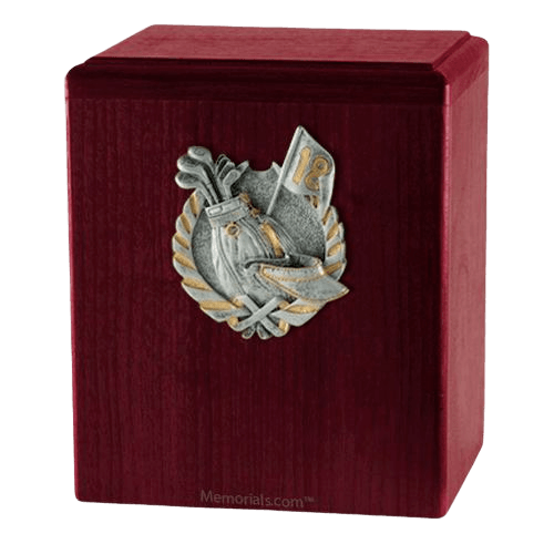 Golf Fan Rosewood Cremation Urn