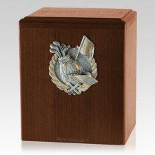 Golf Fan Walnut Cremation Urn