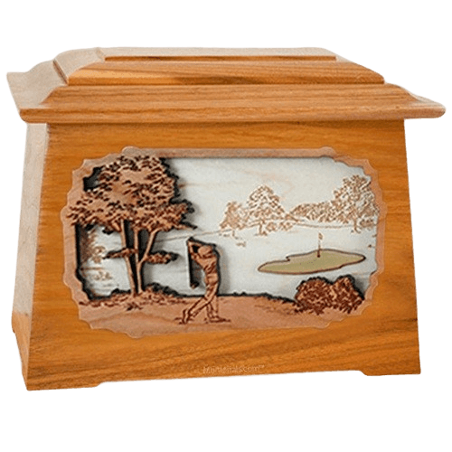 Golf Mahogany Aristocrat Cremation Urn