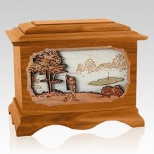 Golf Mahogany Cremation Urn