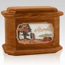 Golf Mahogany Octagon Cremation Urn