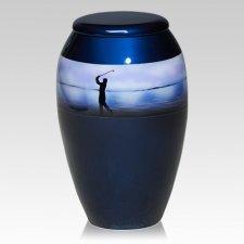 Golf Metal Cremation Urn