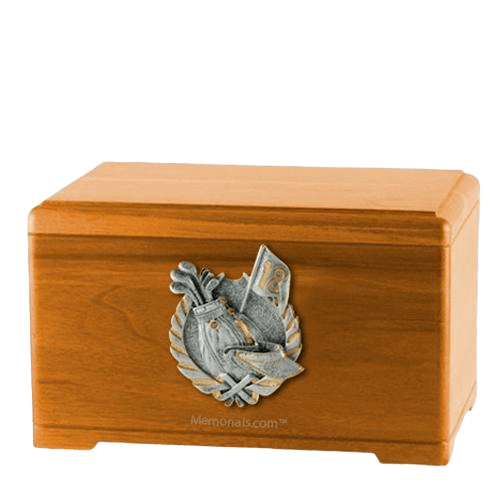 Golf Tour Oak Cremation Urn
