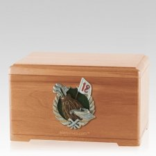 Golfer Light Cherry Cremation Urn
