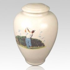Tee Time Ceramic Cremation Urn