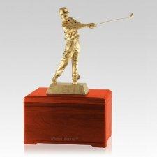 Golfing Fan Cherry Cremation Urn