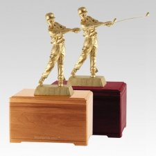 Golfing Fan Cremation Urns