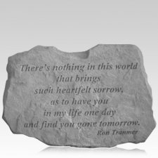 Gone Tomorrow Remembrance Stone