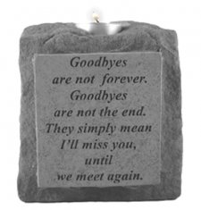 Goodbyes Are Not Votive Stone