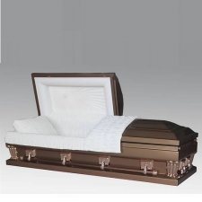 Graceful Copper Steel Casket
