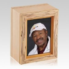 Natural Grain Frame Wood Cremation Urn