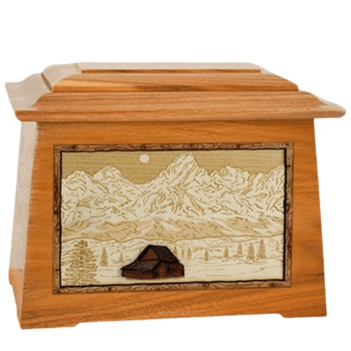 Grand Tetons Mahogany Aristocrat Cremation Urn