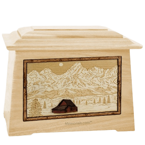 Grand Tetons Maple Aristocrat Cremation Urn