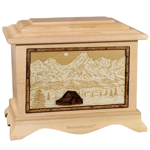 Grand Tetons Maple Cremation Urn