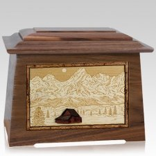Grand Tetons Walnut Aristocrat Cremation Urn