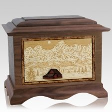 Grand Tetons Walnut Cremation Urn