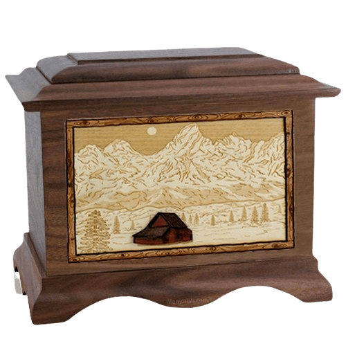 Grand Tetons Wood Cremation Urns