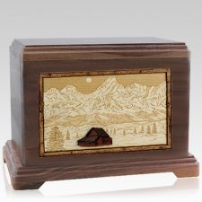 Grand Tetons Walnut Hampton Cremation Urn