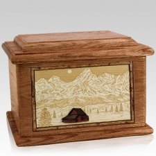 Grand Tetons Walnut Memory Chest Cremation Urn