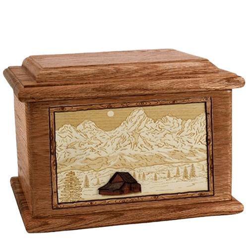 Grand Tetons Walnut Memory Chest Cremation Urn