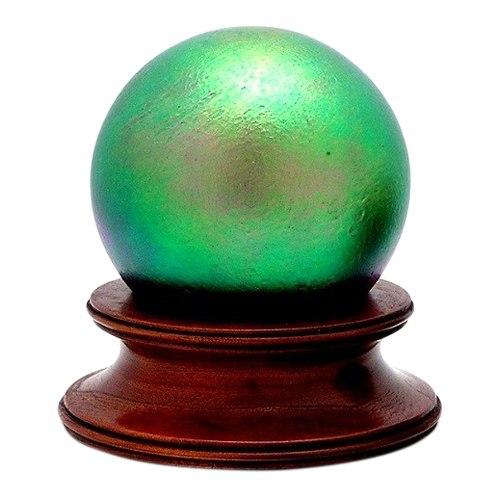 Grassy Field Glass Pet Urn