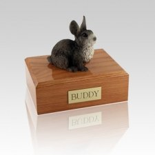 Gray Medium Bunny Cremation Urn