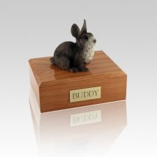 Gray Small Bunny Cremation Urn