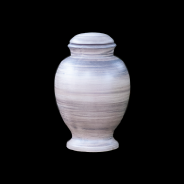 Gray Shell Biodegradable Cremation Urn