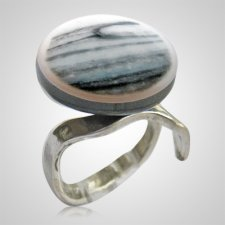Gray Blue Memorial Ashes Ring